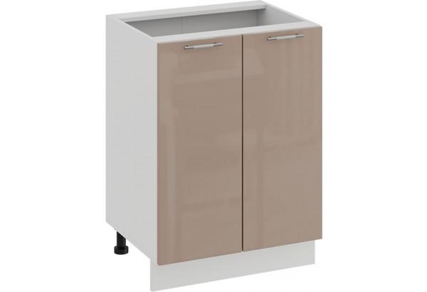 Шкаф напольный с двумя дверями «Весна» (Белый/Кофе с молоком) - фото 1