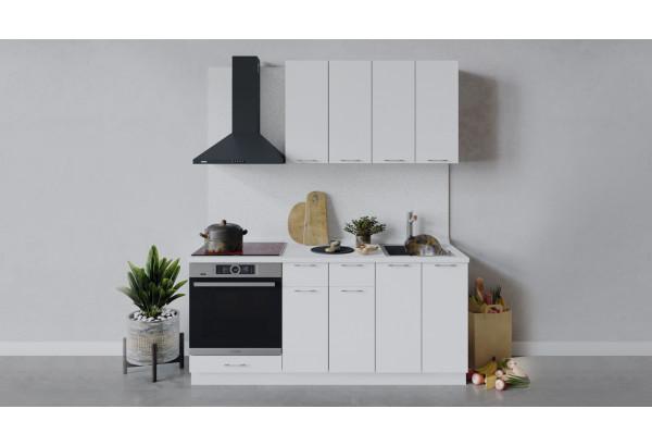 Кухонный гарнитур «Весна» длиной 180 см со шкафом НБ (Белый/Белый глянец) - фото 1