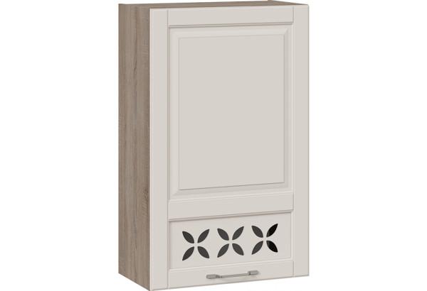 Шкаф навесной c декором (правый) (СКАЙ (Бежевый софт)) - фото 1
