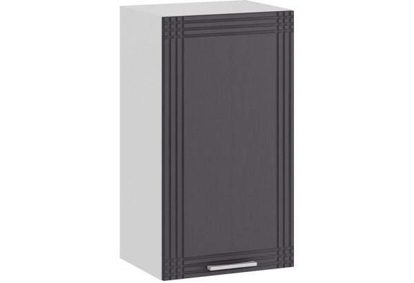 Шкаф навесной c одной дверью «Ольга» (Белый/Графит) - фото 1