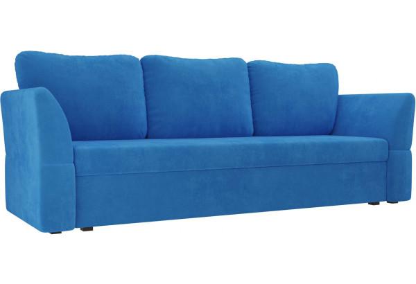 Диван прямой Гесен Голубой (Велюр) - фото 1
