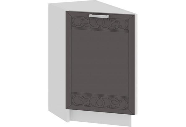 Шкаф напольный торцевой с одной дверью «Долорес» (Белый/Муссон) - фото 1