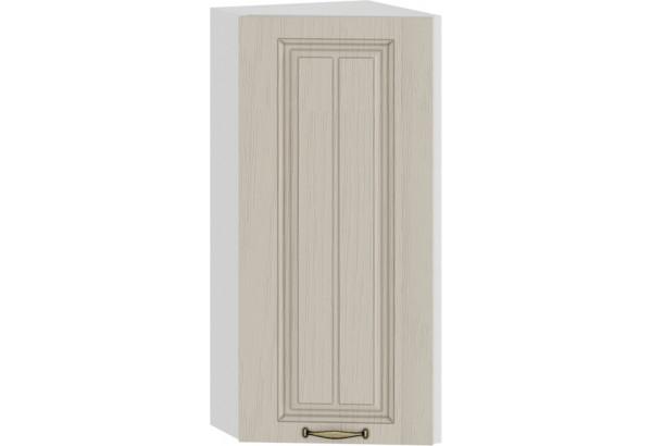 Шкаф навесной торцевой «Лина» (Белый/Крем) - фото 1