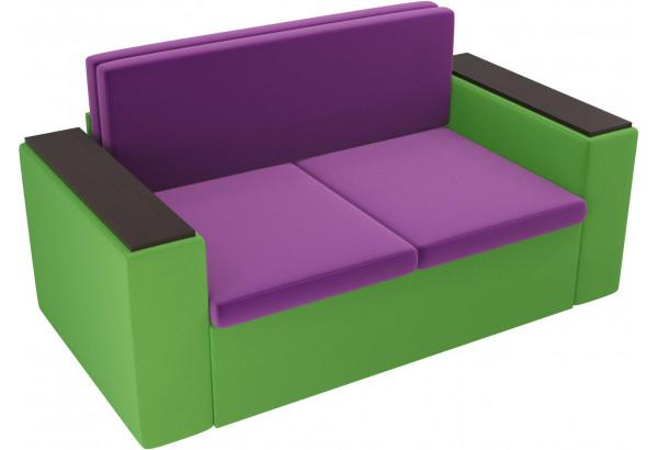 Детский диван Арси фиолетовый/зеленый (Микровельвет) - фото 4