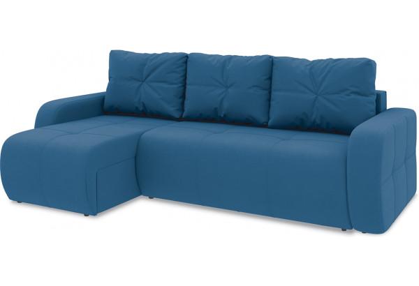 Диван угловой левый «Томас Т1» Beauty 07 (велюр) синий - фото 1