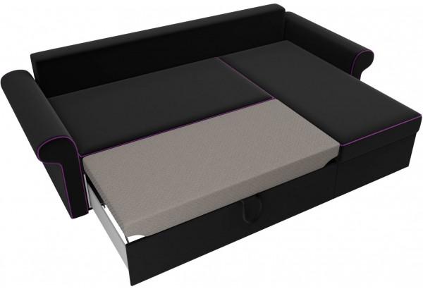 Угловой диван Милфорд Черный (Микровельвет) - фото 6
