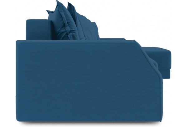 Диван угловой правый «Люксор Slim Т1» (Beauty 07 (велюр) синий) - фото 3