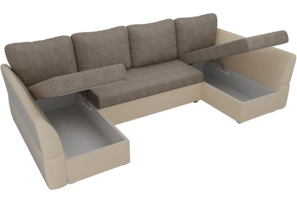 П-образный диван Гесен Корфу 03/коричневый (Корфу/экокожа) - фото 5