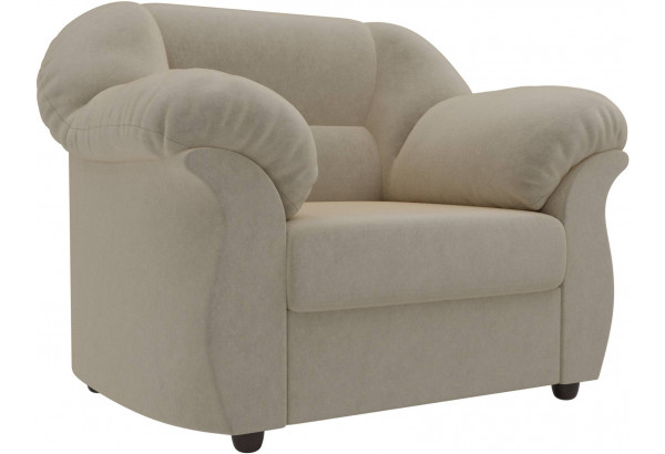 Кресло Карнелла Бежевый (Микровельвет) - фото 1