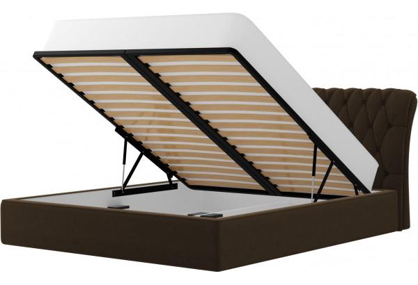 Интерьерная кровать Сицилия Коричневый (Микровельвет) - фото 2