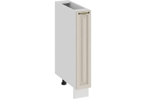 Шкаф напольный с выдвижной корзиной «Лина» (Белый/Крем) - фото 1