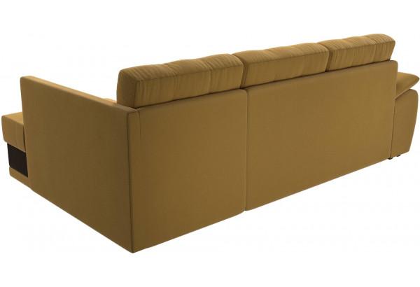 Угловой диван Нэстор прайм Желтый/коричневый (Микровельвет) - фото 5