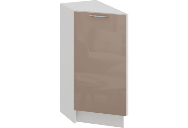 Шкаф напольный торцевой с одной дверью «Весна» (Белый/Кофе с молоком) - фото 1