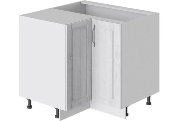 Шкаф напольный угловой с углом 90° (ПРОВАНС (Белый глянец/Санторини светлый)) - фото 1