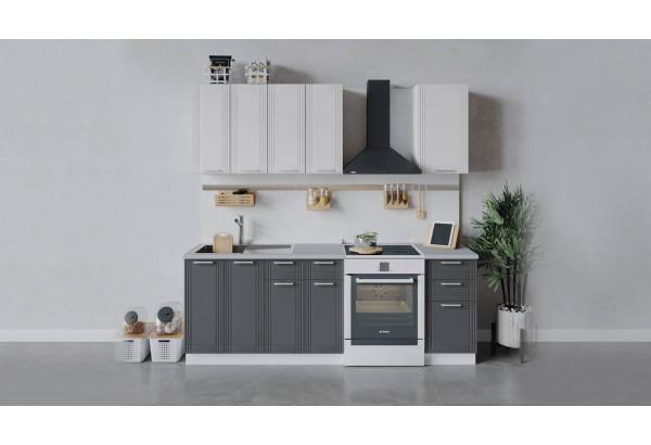 Кухонный гарнитур «Ольга» длиной 160 см (Белый/Белый/Графит) - фото 1