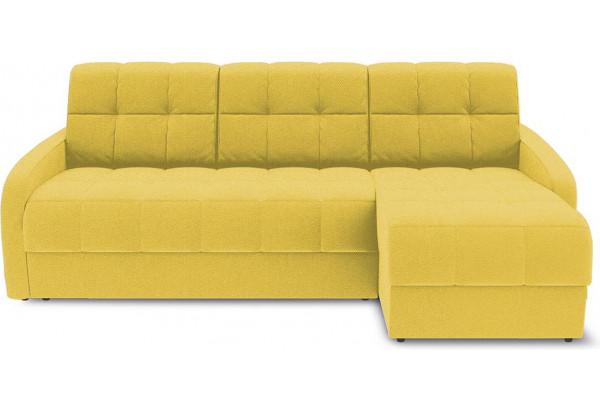 Диван угловой правый «Аспен Slim Т1» (Neo 08 (рогожка) желтый) - фото 2