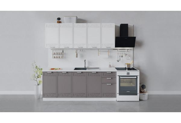 Кухонный гарнитур «Долорес» длиной 200 см (Белый/Сноу/Муссон) - фото 1