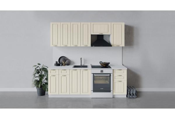 Кухонный гарнитур «Лина» длиной 220 см (Белый/Крем) - фото 1