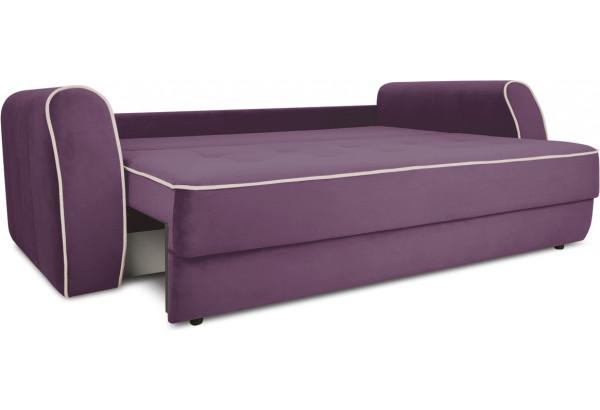 Диван «Хьюго» (Kolibri Violet (велюр) фиолетовый кант Kolibri Cream (велюр) кремовый) - фото 6