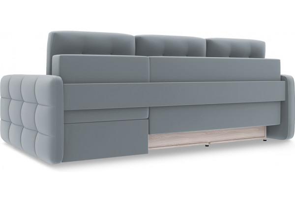 Диван угловой правый «Райс Slim Т2» Kolibri Silver (велюр) серый - фото 4