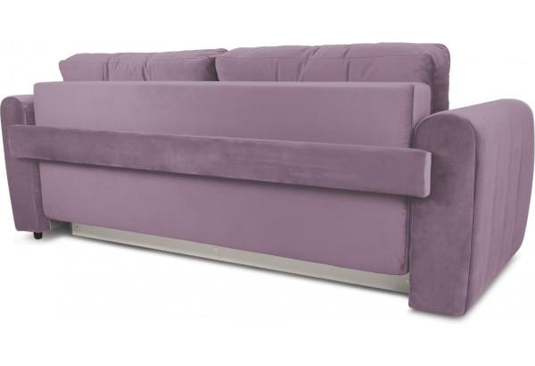 Диван «Хьюго» (Fenix Lilac (микровелюр) Лиловый кант Fenix Silver (микровелюр) Светло - серый) - фото 4