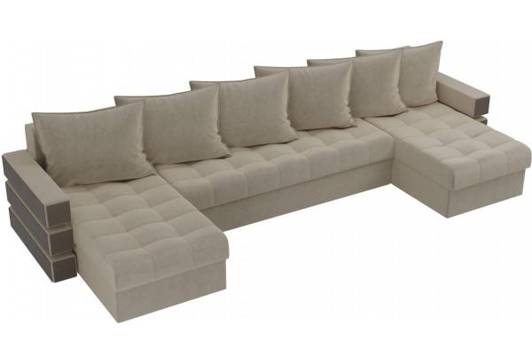 П-образный диван Венеция Бежевый (Микровельвет) - фото 4