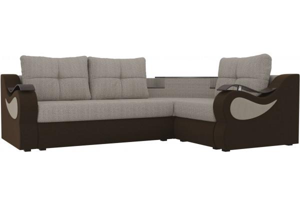 Угловой диван Митчелл Корфу 02/коричневый (Корфу/Микровельвет) - фото 1