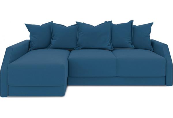 Диван угловой левый «Люксор Slim Т2» (Beauty 07 (велюр) синий) - фото 2