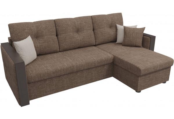 Угловой диван Валенсия Коричневый (Рогожка) - фото 4