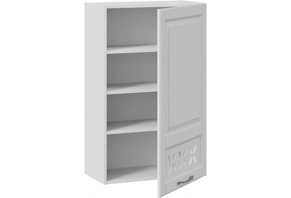 Шкаф навесной c декором (правый) (СКАЙ (Белоснежный софт)) - фото 2
