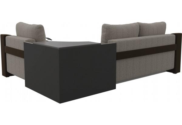 Угловой диван Митчелл Корфу 02/коричневый (Корфу/Микровельвет) - фото 5