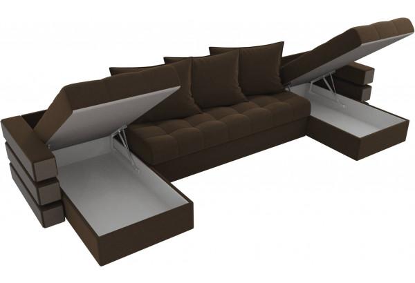 П-образный диван Венеция Коричневый (Микровельвет) - фото 5