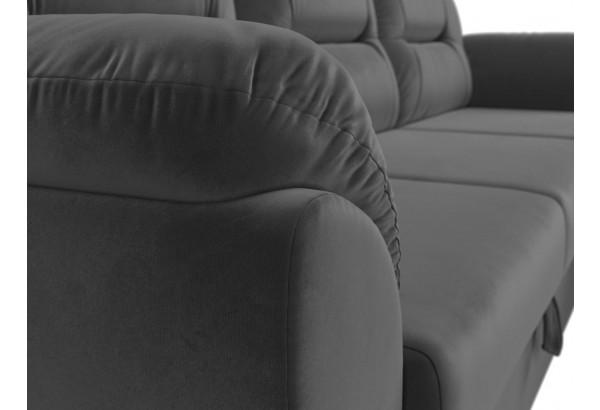Угловой диван Бостон Серый (Велюр) - фото 4