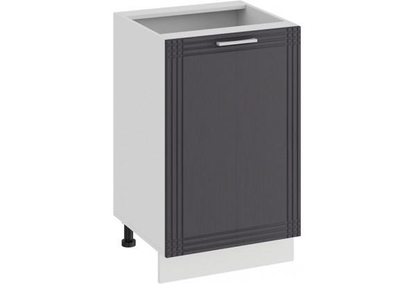 Шкаф напольный с одной дверью «Ольга» (Белый/Графит) - фото 1