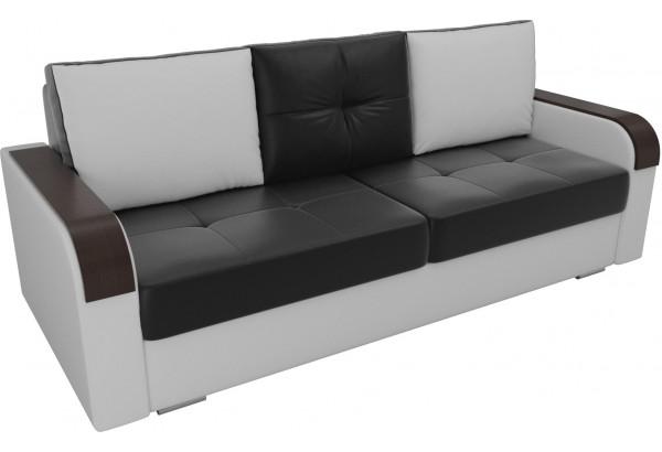 Прямой диван Мейсон Черный/Белый (Экокожа) - фото 4