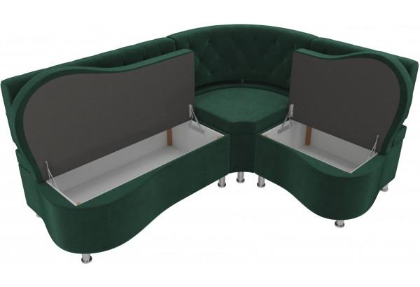 Кухонный угловой диван Вегас Зеленый (Велюр) - фото 5