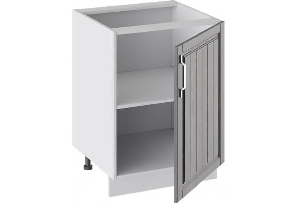 Шкаф напольный (ПРОВАНС (Белый глянец/Санторини темный)) - фото 2