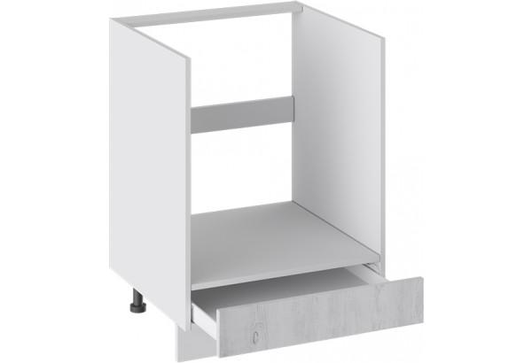 Шкаф напольный под бытовую технику с 1-м ящиком (ПРОВАНС (Белый глянец/Санторини светлый)) - фото 2