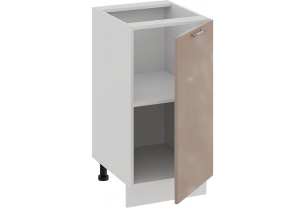 Шкаф напольный с одной дверью «Весна» (Белый/Кофе с молоком) - фото 2