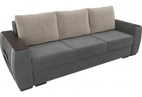 Прямой диван Брион Серый (Велюр) - фото 4