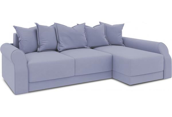 Диван угловой правый «Люксор Т2» (Poseidon Blue Graphite (иск.замша) серо-фиолетовый) - фото 1