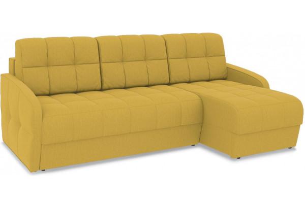Диван угловой правый «Аспен Slim Т1» (Poseidon Curcuma (иск.замша) желтый) - фото 1