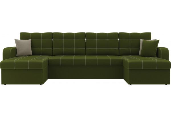 П-образный диван Ливерпуль Зеленый (Микровельвет) - фото 2