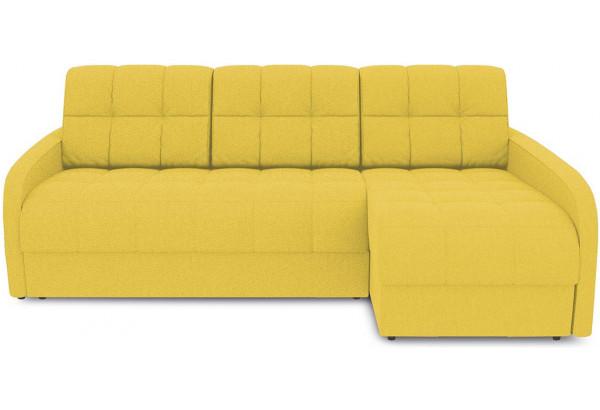 Диван угловой правый «Аспен Slim Т2» (Neo 08 (рогожка) желтый) - фото 2