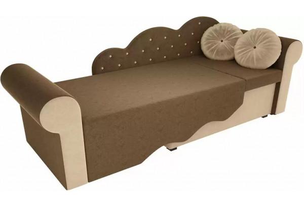 Детская кровать Тедди-2 Коричневый/Бежевый (Микровельвет) - фото 3