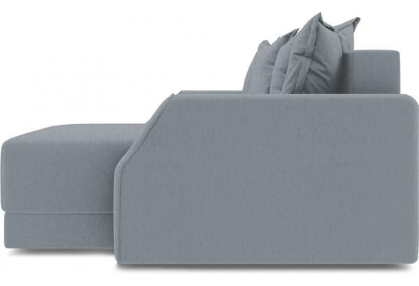 Диван угловой правый «Люксор Slim Т1» (Kolibri Silver (велюр) серый) - фото 5