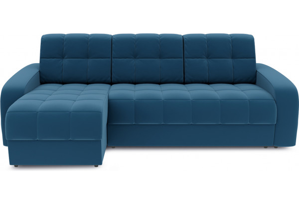Диван угловой левый «Аспен Т1» Beauty 07 (велюр) синий - фото 2