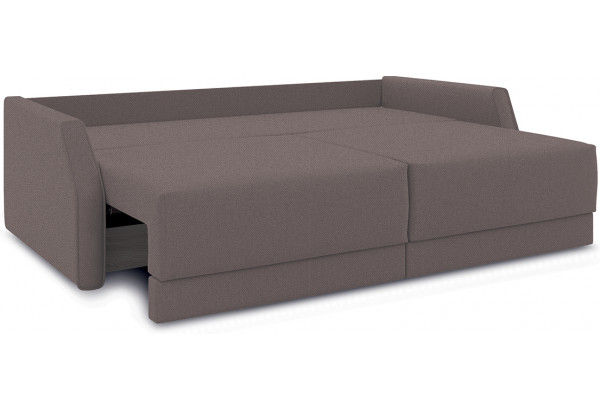 Диван «Люксор Slim» Neo 12 (рогожка) коричневый - фото 6
