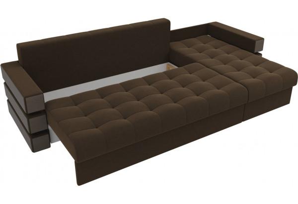 Угловой диван Венеция Коричневый (Микровельвет) - фото 6