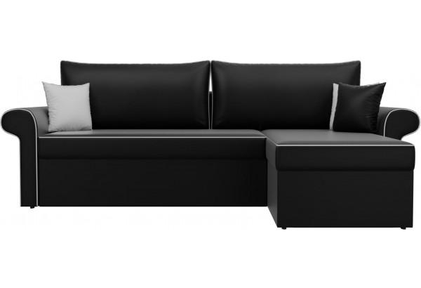 Угловой диван Милфорд Черный (Экокожа) - фото 2